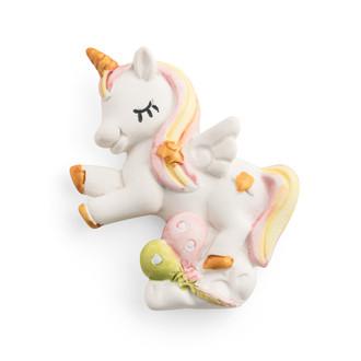 Unicorn Ceramic Pink Figurine Rainbow Colors  W. Magnet