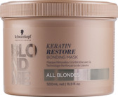 Schwarzkopf BlondMe Keratin Restore Bonding Mask 500ml