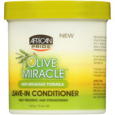 African Pride Olive Miracle Moisturizer Leave in Conditioner 15oz