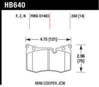 Hawk 09-15 Mini Cooper HT-10 Race Front Brake Pads