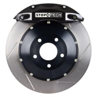StopTech 07-08 Mini Cooper/Cooper S (No JCW) Front BBK w/Black ST-40 Calipers Slotted 328x28mm Roto