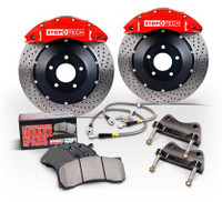StopTech 07-08 Mini Cooper/Cooper S (No JCW) Front BBK w/Silver ST-40 Calipers Slotted Zinc 328x28m