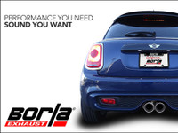MINI Cooper S F56 Borla Axle back Exhaust Multi Core