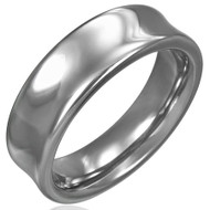 Tungsten Carbide 7.0mm Concave Ring