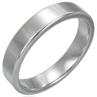 Tungsten Carbide 4.0mm Flat Band Ring