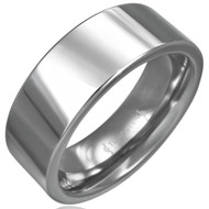 Tungsten Carbide 8.0mm Flat Ring