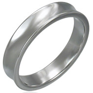 Tungsten Carbide 4.0mm Concave Ring