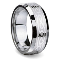 Celtic Infinity Tungsten Ring