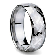 Celtic Tungsten Rings 8.0mm Braid Design