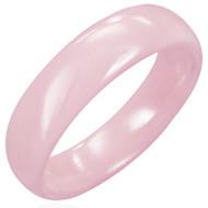 Pink Ceramic Half-round Band Ring
