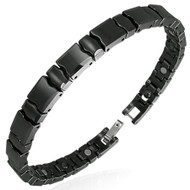 Black Ceramic Panther II Link Bracelet w/ Magnets
