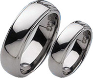 Matching Couples Rings 6.0mm Step Edge/Polished