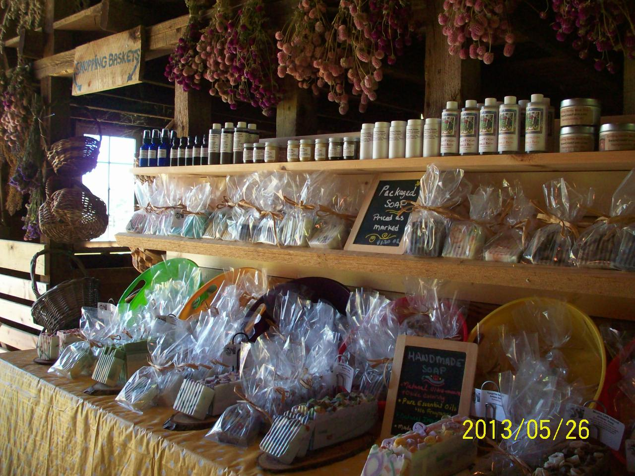 herbal remedies - handmade soap at medicinal herb farm