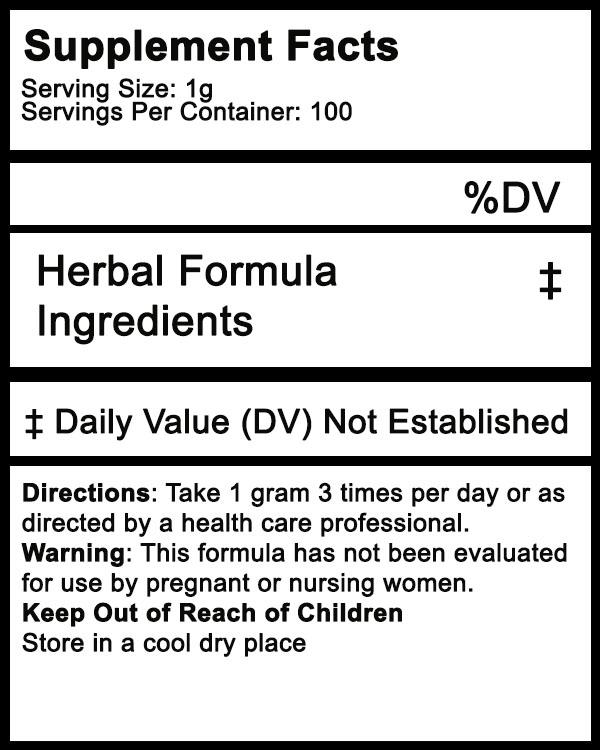 herbal supplement powder