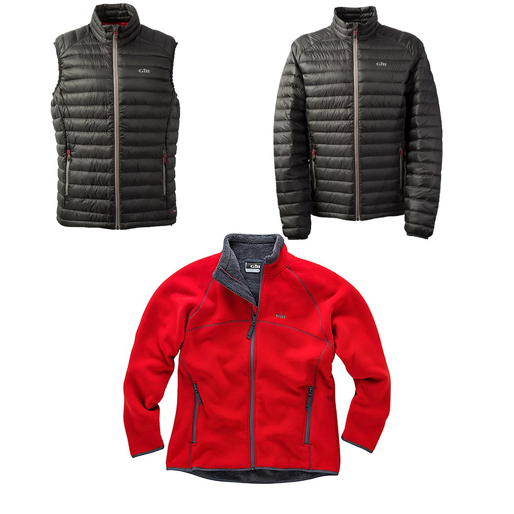 Gill Hydrophobe Down Jacket + Vest & Polar Jacket