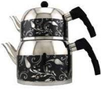 MIMAR SINAN Sehrazat Stainless Steel Tea Pot Set (Black) CELIK CAYDANLIK