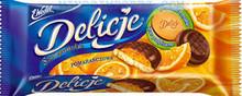 Delicje Orange Biscuits 147g kraft Poland