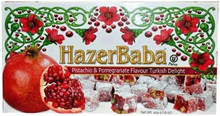 Pomegranate Turkish Delight w/ Pistachios Hazer Baba     454g.