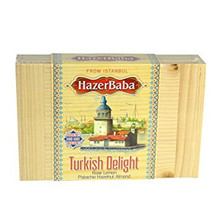 WOODEN BOXES OF HAZERBABA TURKISH DELIGHT ASSORTED FROM ISTANBUL