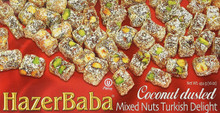 Hazer Baba Turkish Delight Mixed Nut with Coconut Dusted 454 g by Hazer Baba