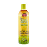 African Pride Olive Miracle Anti-Breakage 2-in-1 Shampoo & Conditioner 12 oz