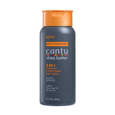 Cantu Shea Butter Men's 3 in 1 Shampoo, Conditioner, Body Wash 13.5 oz