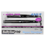 "BaByliss PRO Nano Titanium 1"" Ultra Thin Flat Iron 2pc Combo Set BLACK"