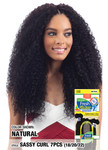 Model Model Nude Fresh Wet & Wavy 100% Human Hair Brazilian Virgin Remy, Sassy Curl 7pcs with Silk Base Closure