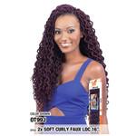 """MODEL MODEL Glance Crochet Braid 2X Soft Curly Faux Loc 16"""""""