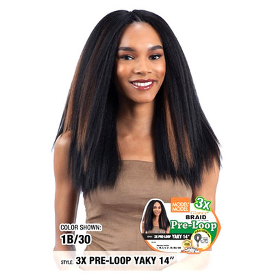 MODEL MODEL Glance Crochet Braid 3X Pre-Loop Yaky 14""