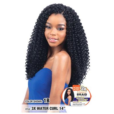 "MODEL MODEL 3X Glance Crochet Braid Water Curl 14"""