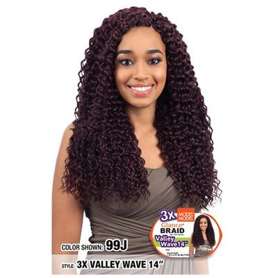 "MODEL MODEL 3X Glance Crochet Braid Valley Wave 14"""