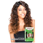 MODEL MODEL Synthetic Deep Invisible Part Wig Mocha
