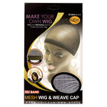 M&M HeadGear Qfitt Sili Band Mesh Wig & Weave Cap #5004