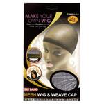 M&M HeadGear Qfitt Sili Band Mesh Wig & Weave Cap #5004