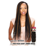 MODEL MODEL 3X Giant Jumbo Braid Trio Pack, 100% Kanekalon