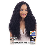 Model Model Nude Fresh Wet & Wavy 100% Human Hair Brazilian Virgin Remy, Natural Wavy 7pcs