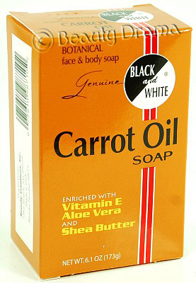 Black and White Botanical Face & Body Carrot Oil Soap 6.1 oz
