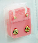 Studex Ear Piercing Gold Plated Diamond Stone MINI Studs 12 pack M204Y