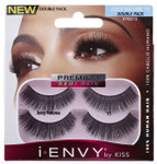 Kiss i ENVY Double Pack 100% Human Hair Eyelashes Juicy Volume 15, KPED15