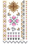 Metallic Body Flash Temporary Tattoo Jewelry