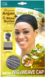M&M HeadGear Qfitt Argan, Olive Oil, Shea Butter Treated Mesh Wig & Weave Cap