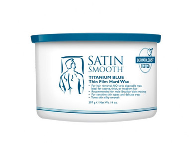 Satin Smooth Titanium Blue Thin Film Hard Wax for Men