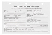 Hair Client Profile Cards