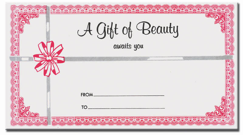 gift certificate envelopes boss beauty supply