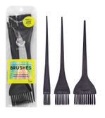 Assorted Feather Bristle Color Brushes