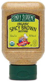 Simply Supreme Organic Spicy Brown Mustard - 10oz.