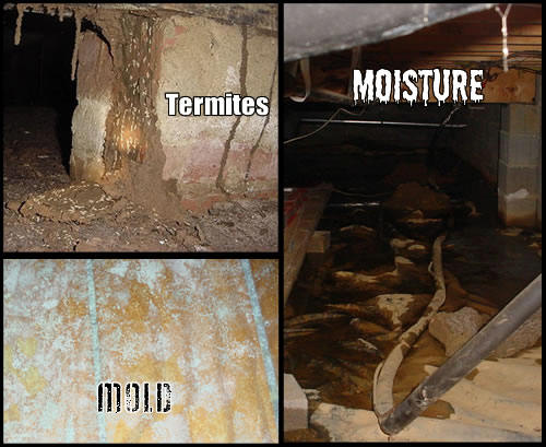 Crawl space moisture problems