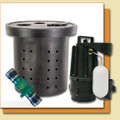 Sump Pump Package (Zoeller M72 Pump, Basin, Valve)