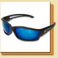 Edge Kazbek - Polarized Aqua Precision Blue Safety Glasses